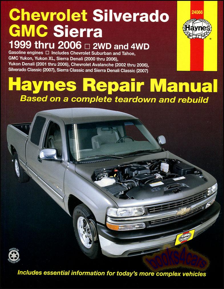 Chevrolet Silverado Gmc Sierra Shop Service Repair Manual Haynes Truck Chilton