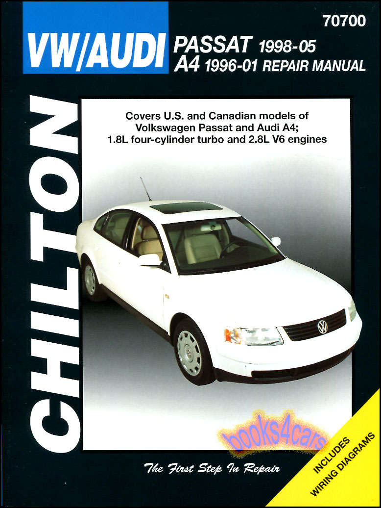 96-2001 A4 & 98-2005 Passat Shop Service Repair Manual by Chilton for Audi  & Volkswagen. Does not cover 96-97 Passat (995_C70700) ...