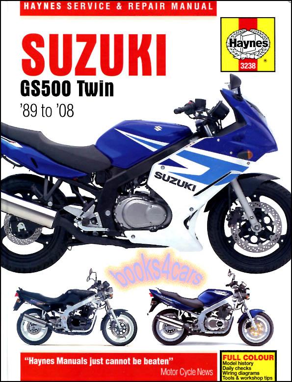 shop manual gs500 service repair suzuki book haynes gs500e gs500f gs rh ebay com suzuki gs 500 manuale officina suzuki gs500 manual download