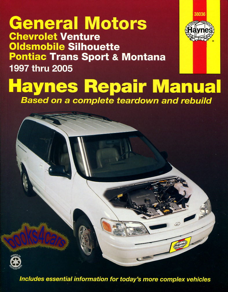 shop manual service repair book haynes chilton venture montana rh ebay com 2001 oldsmobile silhouette repair manual free download 2001 oldsmobile silhouette repair manual