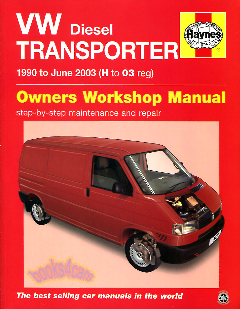 90-03 VW Volkswagen Eurovan Transporter T4 Van Shop Service Repair Manual  Diesel 1.9 4 cylinder 2.4 2.5 5 cylinder does not cover gas/petrol engines  by ...