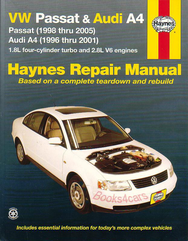 1998-2005 vw passat bentley repair shop manual 2 vol. Set.