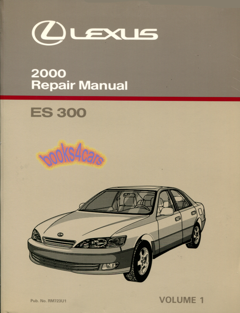REAL BOOK over 700 pages by Lexus Shop Service Repair Manual for  Maintnenace Diagnostics & Specifications for all 2000 ES300