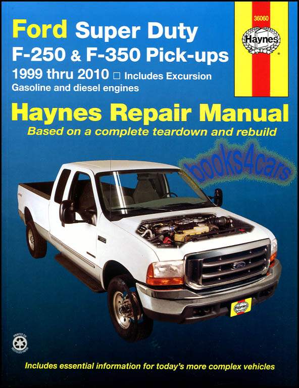 Encontr manual september 2016 ford f250 shop manual service repair book haynes chilton sd diesel fandeluxe