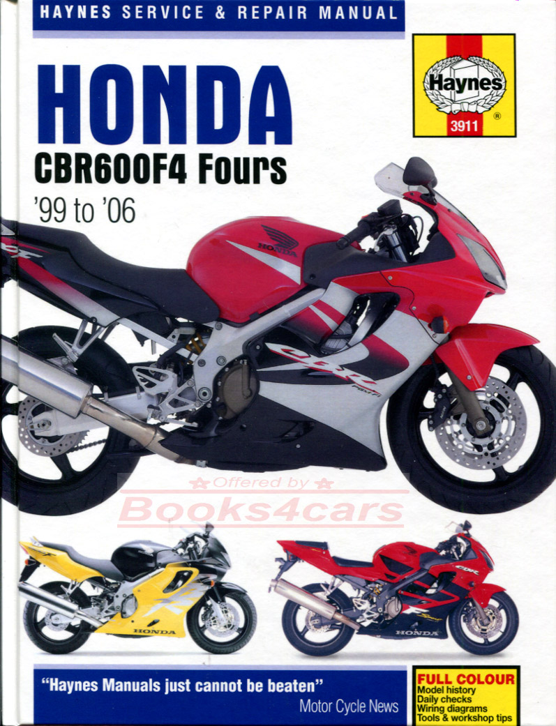 Honda Bikes Manuals At 1992 Gl1500 Wiring Diagram 99 2002 Cbr600f4 Shop Service Repair Manual By Haynes For Cbr600f X Y 1 2 Cbr600fs B005 3911