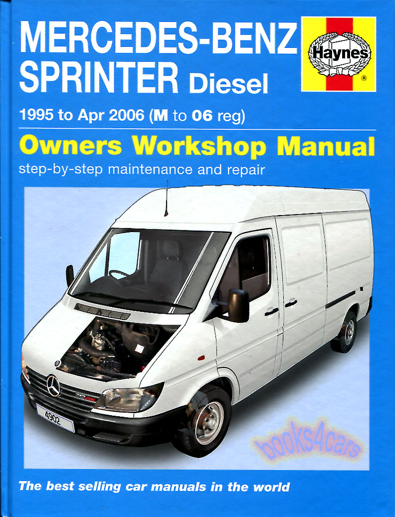 sprinter shop manual service repair book haynes mercedes. Black Bedroom Furniture Sets. Home Design Ideas