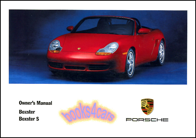 Porsche boxster11999 owners manual books and leather pouch.