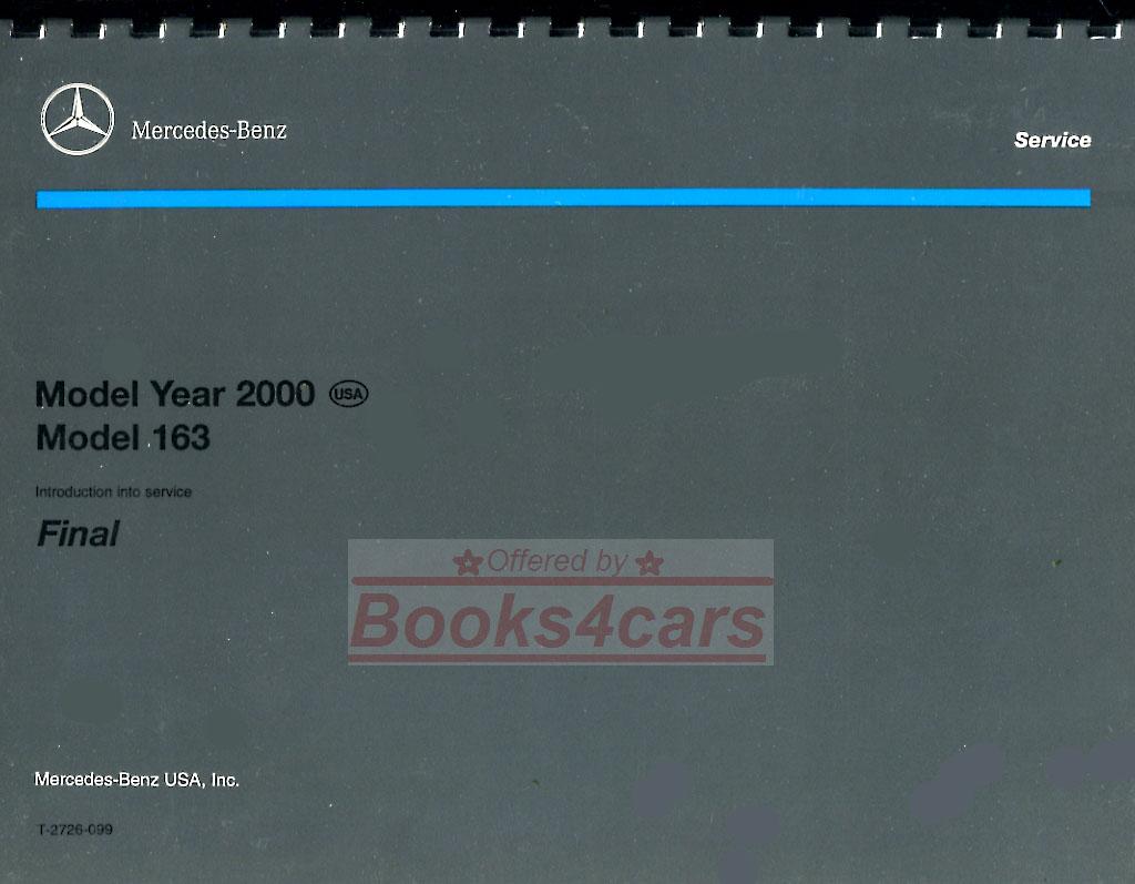2000 mercedes ml320 ml430 ml55 amg shop repair manual ebay for 2000 mercedes benz ml320 owners manual