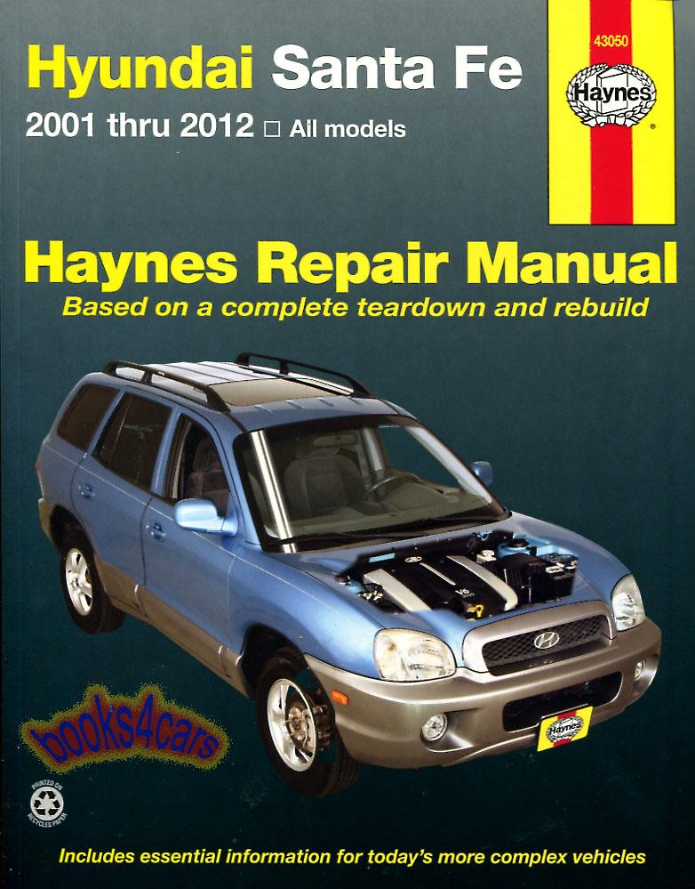 shop manual santa fe service repair hyundai haynes santafe book rh ebay com Santa Fe 2001 Interior Santa Fe 2001 Interior