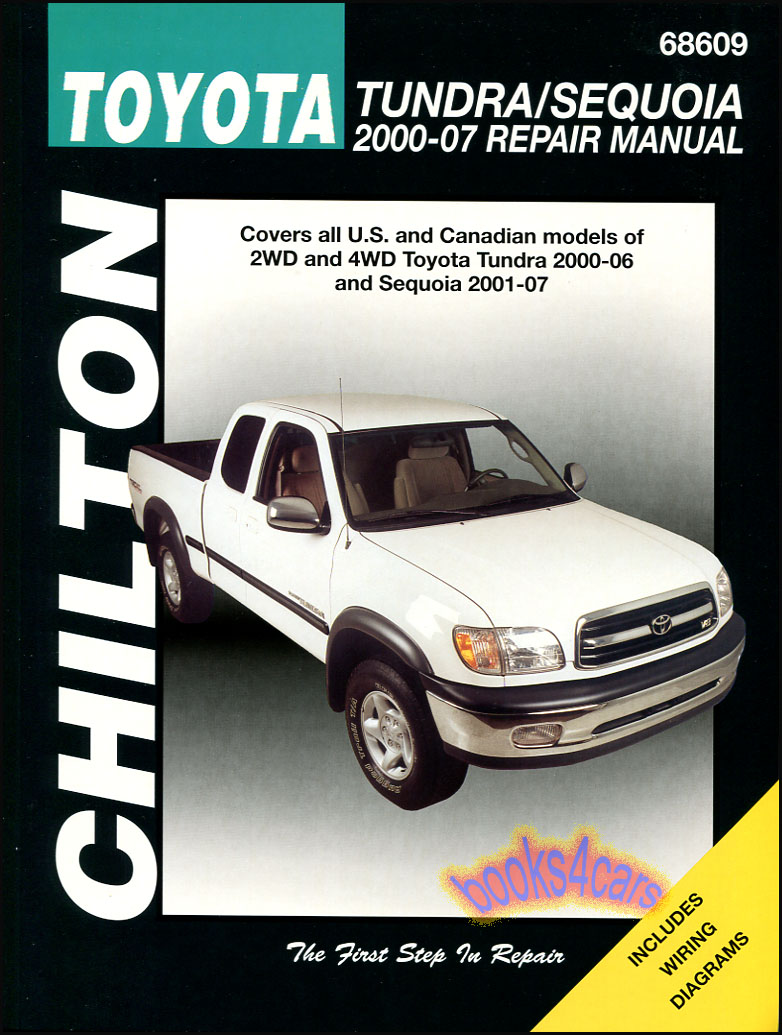 00-06 2WD & 4WD Toyota Tundra & 01-07 Sequoia Shop Service Repair Manual by  Chilton (B01_68609) ...