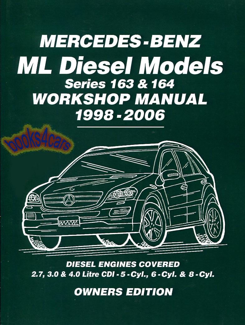 mercedes ml shop manual service repair book cdi 163 164 ml400 ml270 rh ebay com 6.0 Powerstroke Performance Ford 6.0 Diesel Review