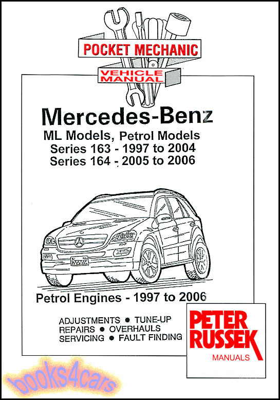 Shop manual service repair book mercedes ml 163 164 ml320 for Mercedes benz ml320 repair manual