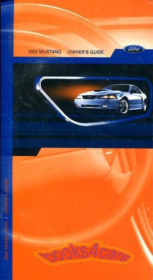 mustang owners manual 2002 ford book handbook guide gt ebay rh ebay com 2002 ford mustang v6 owners manual 2000 Ford Mustang Owners Manual