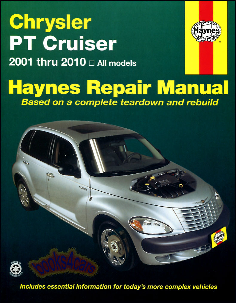 01-10 PT Cruiser Shop Service Repair Manual by Haynes for Chrysler  (B02_25035) ...