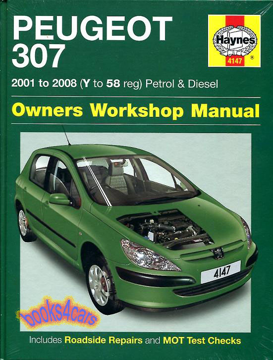 shop manual 307 service repair peugeot haynes book ebay. Black Bedroom Furniture Sets. Home Design Ideas