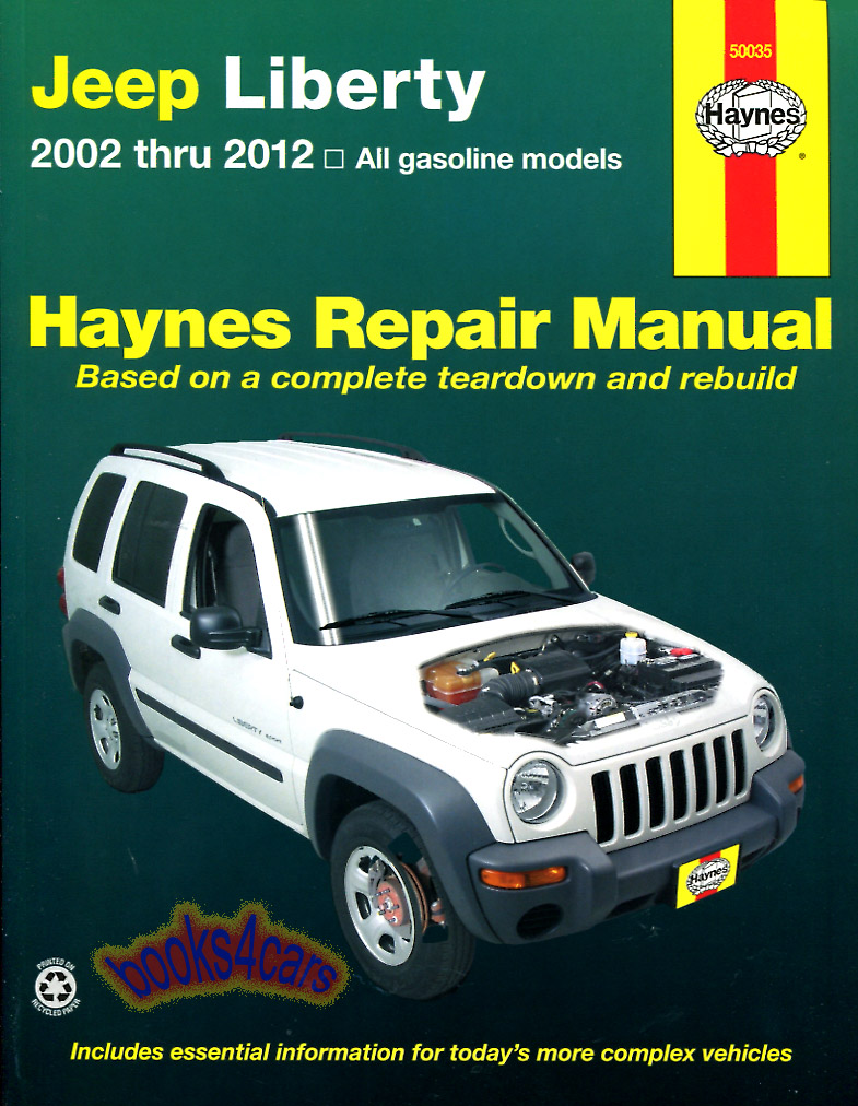 REAL BOOK 288 pages Bumper to Bumper Shop Service Repair Book covering 2002-2012  Jeep Liberty. Book is in New, never-opened condition