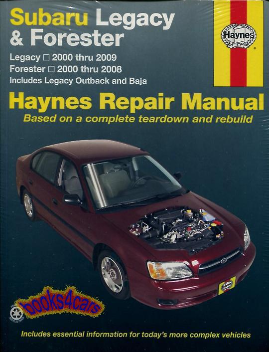 shop manual service repair subaru haynes legacy outback. Black Bedroom Furniture Sets. Home Design Ideas