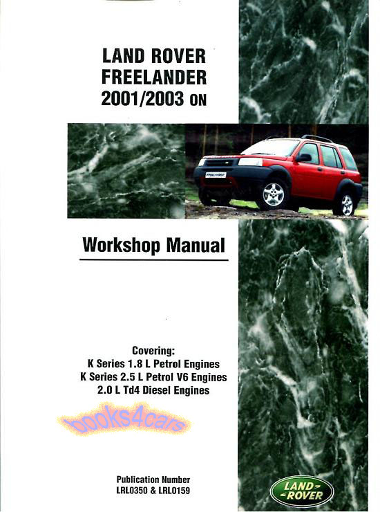 freelander shop manual service repair book v6 land rover workshop ebay rh ebay com