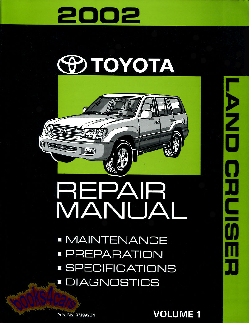 Land Cruiser Shop Manual Service Repair 2002 Toyota Book Landcruiser 1973 Original Real Factory By For All Covering Maintenance Preparation Specifications Diagnosis