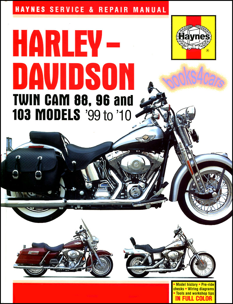 1999-2010 Harley Davidson Twin Cam 88 & 96 Shop Service Repair Manual by  Haynes (B035_2478) ...
