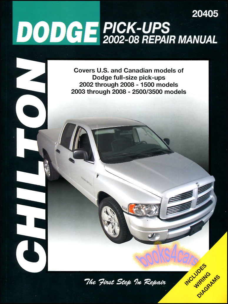 Dodge Pickup Shop Service Manuals At 2008 Ram 2500 Diesel Lighting Wire Schematic B035 C20405