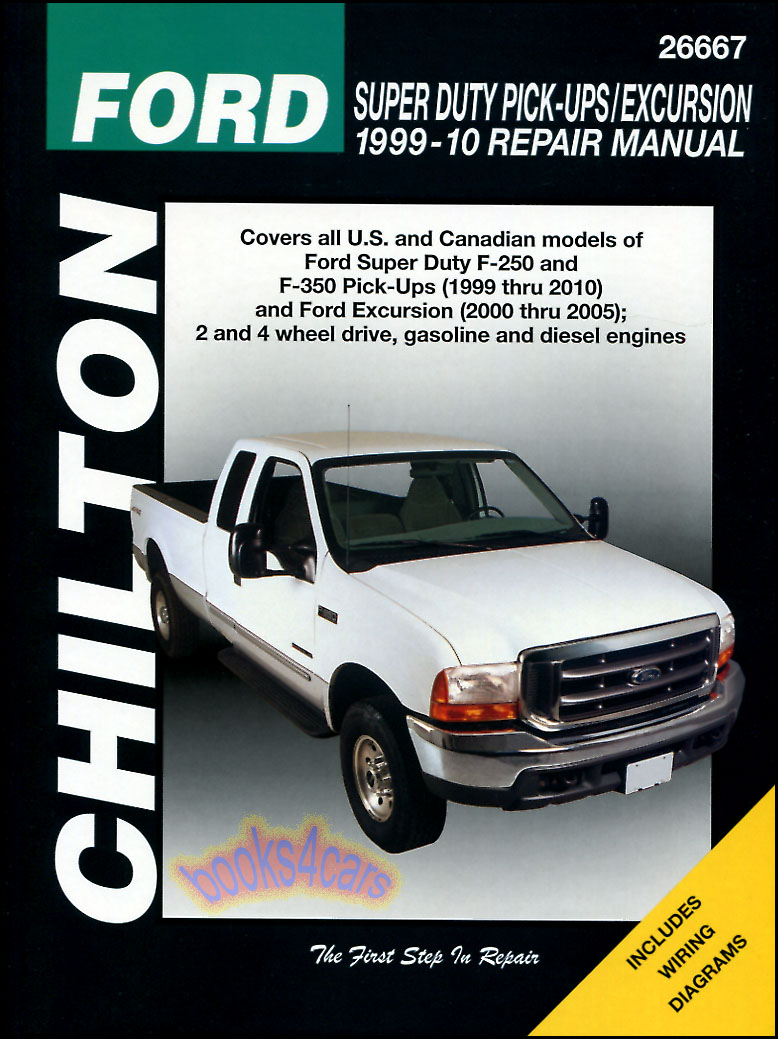 Ford F250 F350 Shop Service Repair Manual Chilton Book Haynes Pickup 1999 Engine Diagram 4x4 Truck Ebay