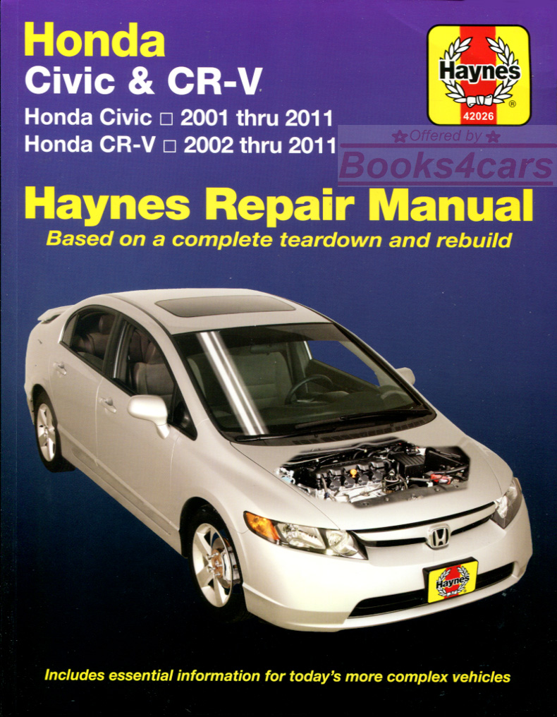 Honda civic shop manual service repair book haynes for Honda of seattle service
