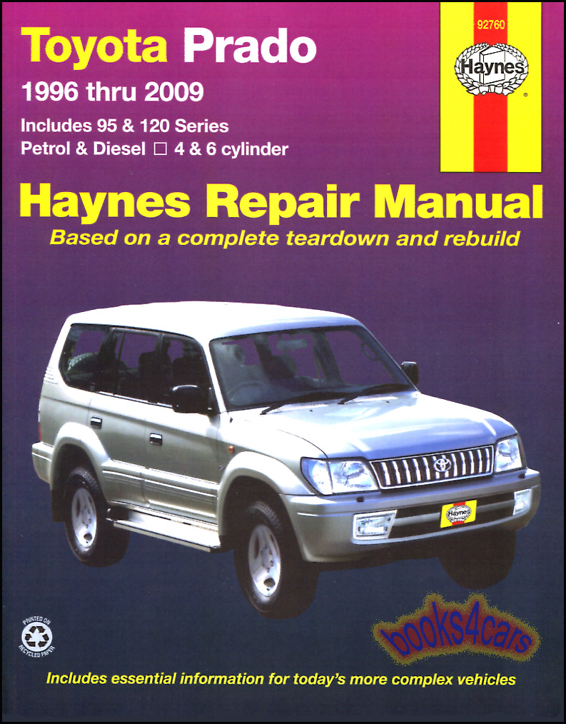 REAL BOOK Shop Service Repair Manual for 1996-2009 Prado which is the basis  for the Lexus LX470 thru 2009. Book is in New, never-opened condition.