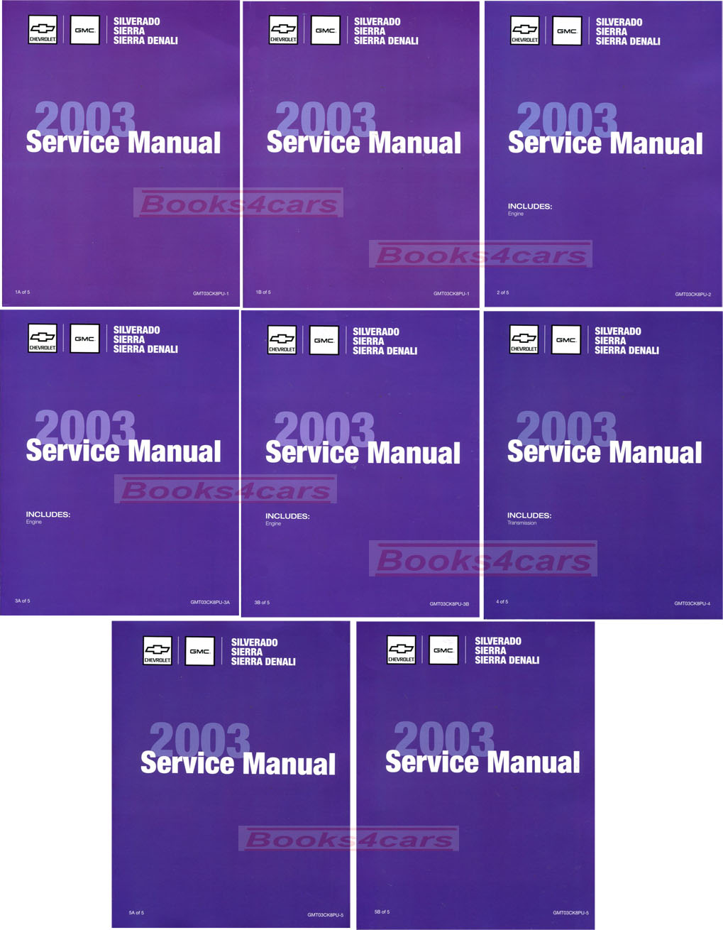2003 Silverado Sierra Denali Shop Service Repair Manual by Chevrolet & GMC  Truck includes HD and Diesel Duramax Engine (B03_GMT03CK8PU) ...