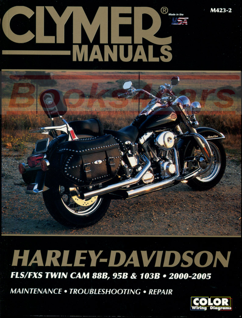 00-05 Harley Davidson FLH/FLT Touring Series Shop Service Repair Manual by  Clymer covering FLSTC FLSTCI Hertiage Softail Classic FLSTF FLSTFI Fat Boy  ...