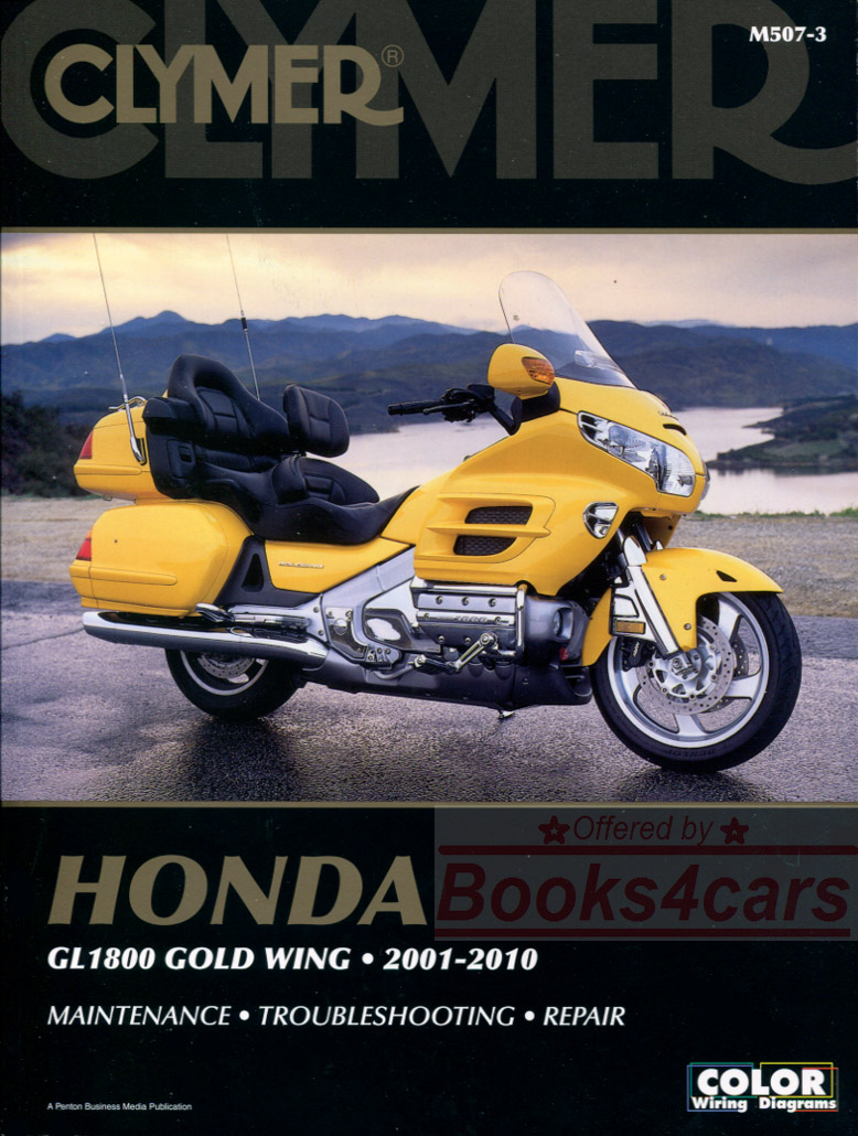 Honda Bikes Manuals At 1992 Gl1500 Wiring Diagram 2001 10 Gl1800 Goldwing Shop Service Repair Manual By Clymer 720 Pages B03 M507 3