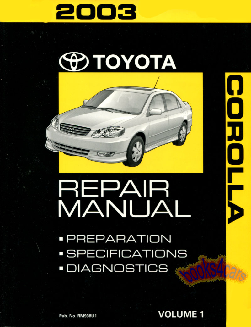 Toyota Corolla Manuals At Books4cars Com