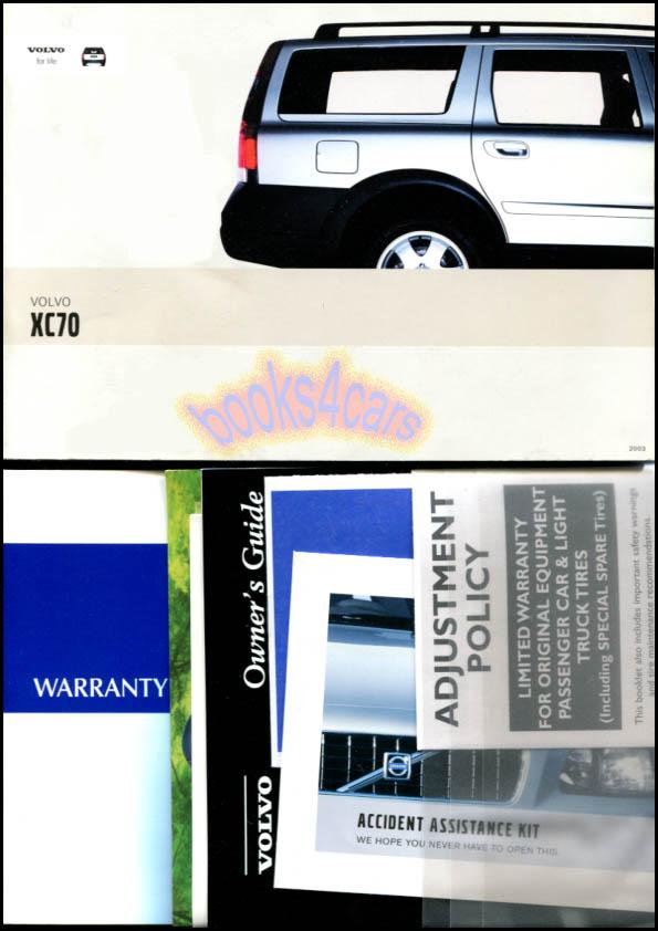 2003 volvo xc70 owners manual book ebay rh ebay co uk 2007 Volvo S60 R 2005 Volvo V70