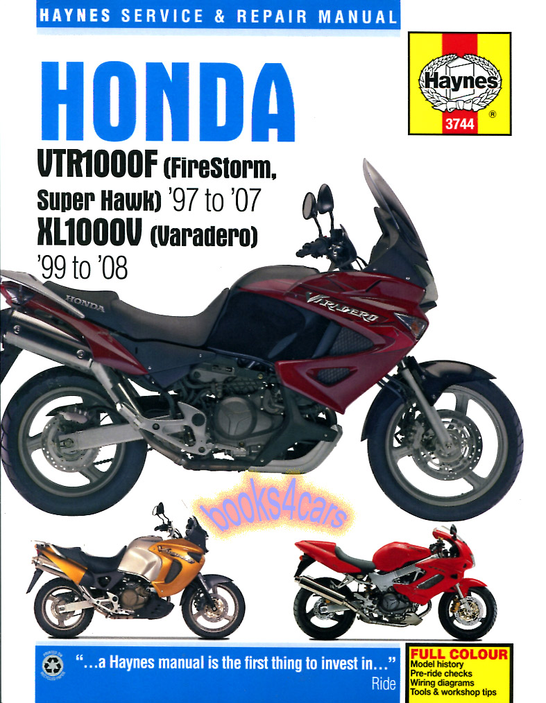 REAL BOOK Complete Shop Service Repair Manual for 1997 thru 2007 VTR1000F  FireStorm & Super Hawk. Book is in New, never-opened condition