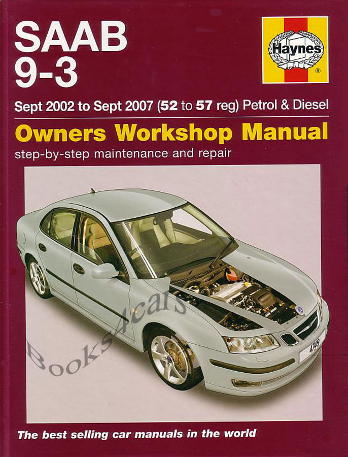 saab 9 3 shop manual book service repair haynes turbo chilton rh ebay com Saab 9-3 Custom Saab 9-3 Convertible