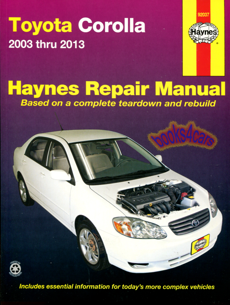 REAL BOOK Complete Shop Service Repair Manual Book for 2003-2011 Toyota  Corolla in New, never-opened condition