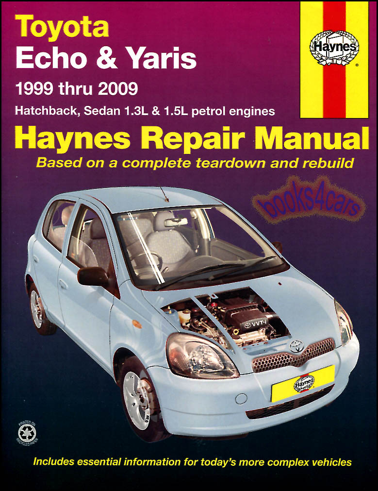 toyota echo yaris shop manual service repair book haynes vitz chilton workshop ebay. Black Bedroom Furniture Sets. Home Design Ideas