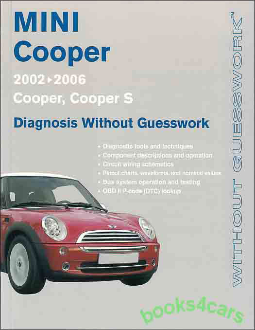 mini cooper shop manual diagnosis repair service guesswork. Black Bedroom Furniture Sets. Home Design Ideas