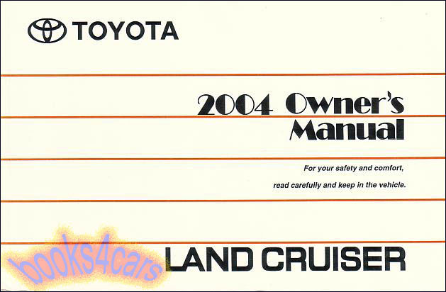 toyota land cruiser owner manuals at books4cars com rh books4cars com 2008 land cruiser owners manual land cruiser prado owners manual