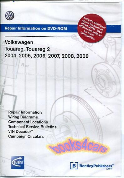 touareg shop manual service repair workshop dvd book volkswagen vw rh ebay com 2004 volkswagen touareg service manual pdf vw touareg service manual