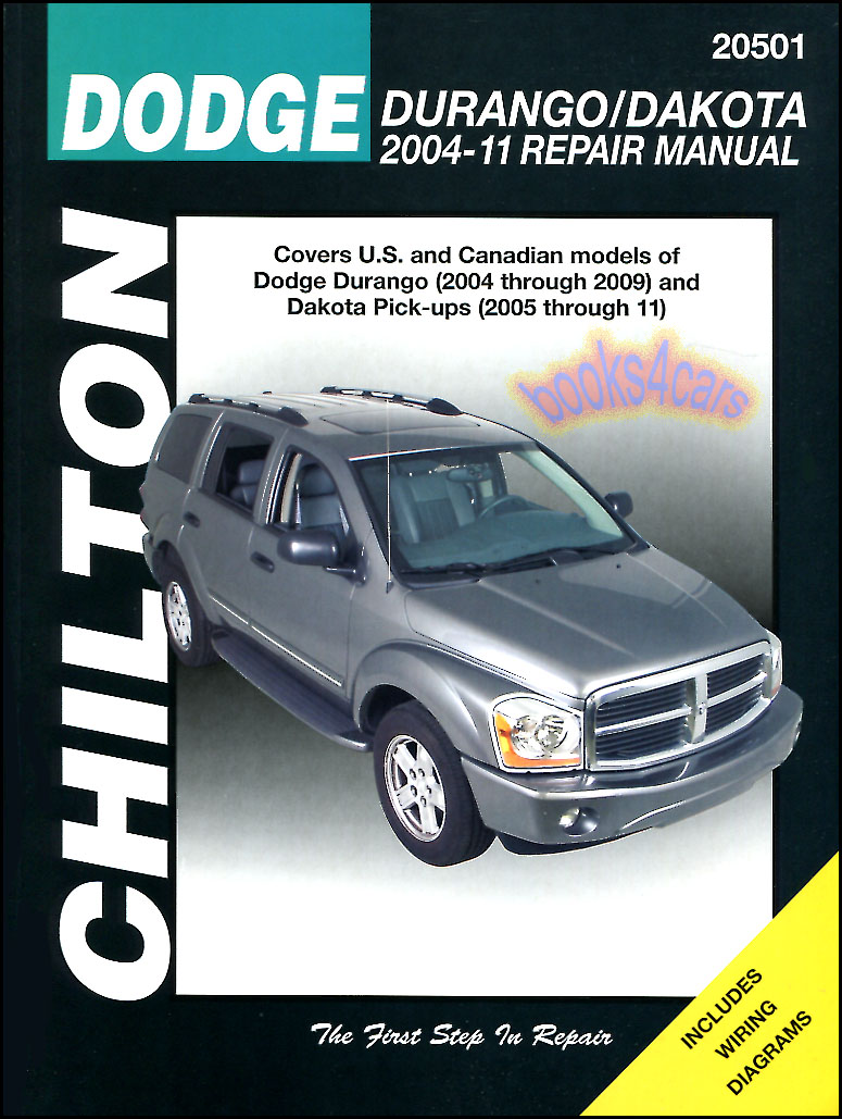shop manual dodge service repair dakota durango book pickup chilton rh ebay com Dodge Caravan Transmission Manual 2006 dodge grand caravan repair manual