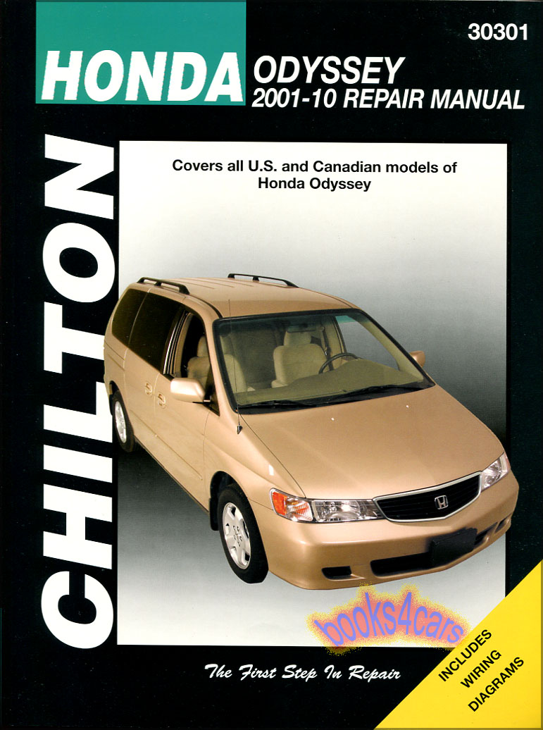 REAL BOOK bumper to bumper Shop Service Repair Manual for all 2001-2010 Honda  Odyssey by Chilton in New, never-opened condition