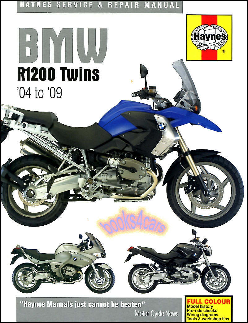 REAL HARDCOVER BOOK 304 page Shop Service Repair Manual for all 2004-2009  BMW R1200 Motorcycles by Haynes with Service & Repair procedures for Engine  ...
