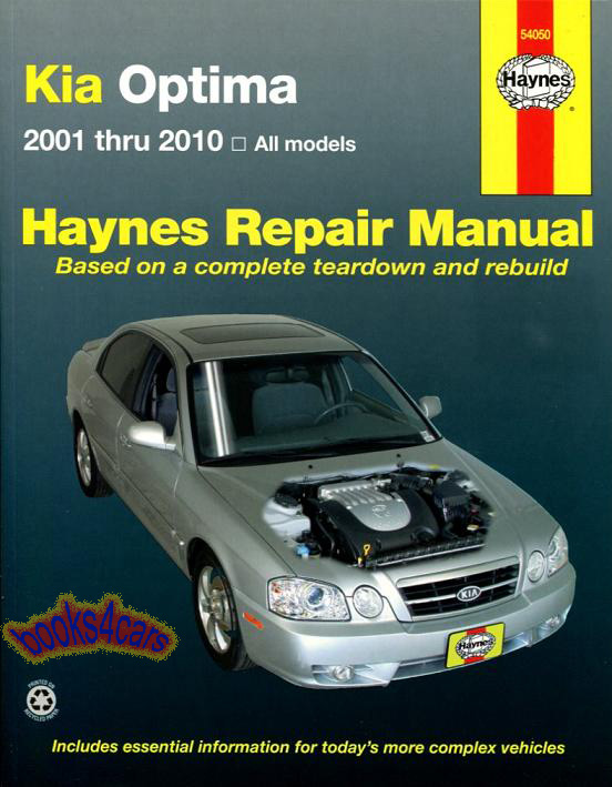 Shop Manual Optima Service Repair Kia Book Haynes Workshop Chilton Kia 2001 2010 Ebay