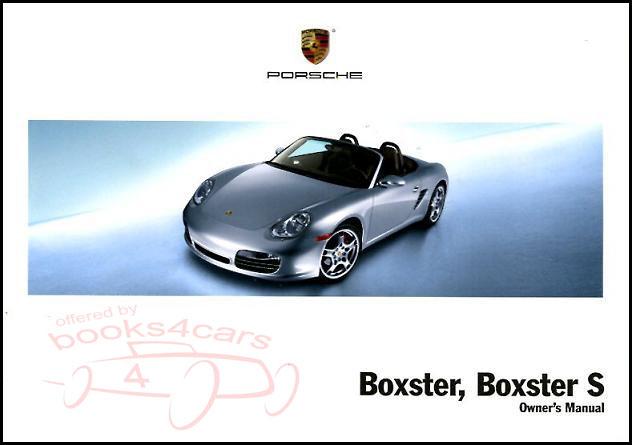 boxster owners manual 2005 porsche book handbook guide ebay rh ebay com porsche boxster service manual free download porsche boxster service manual