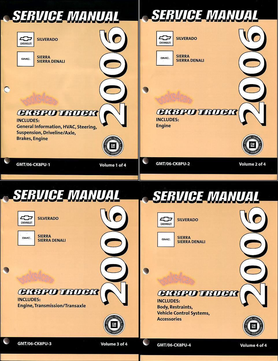 2006 gmc sierra shop manual how to and user guide instructions u2022 rh taxibermuda co gm factory service manual chevrolet silverado gmc factory service manual 2500 4x4 pu