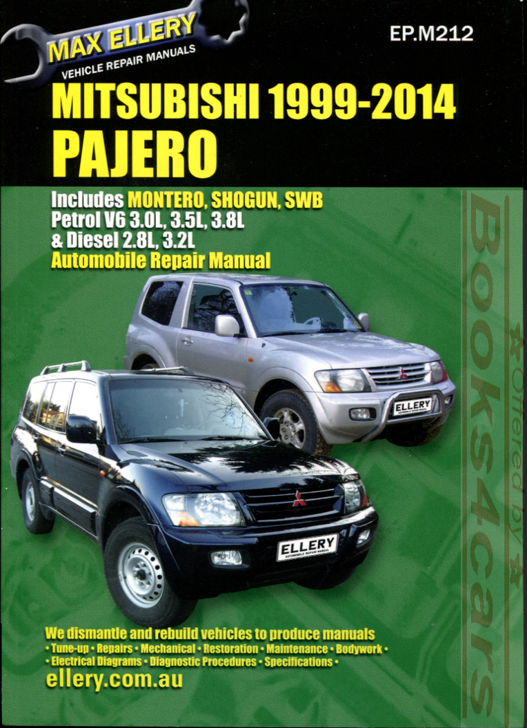 00-10 Shop Service Repair Manual 2000-2010 Mitsubishi Montero Shogun Pajero  3.0 3.5 3.8 Gas & 2.8 3.2 Diesel 528 pages by Ellery (B06_181117) ...