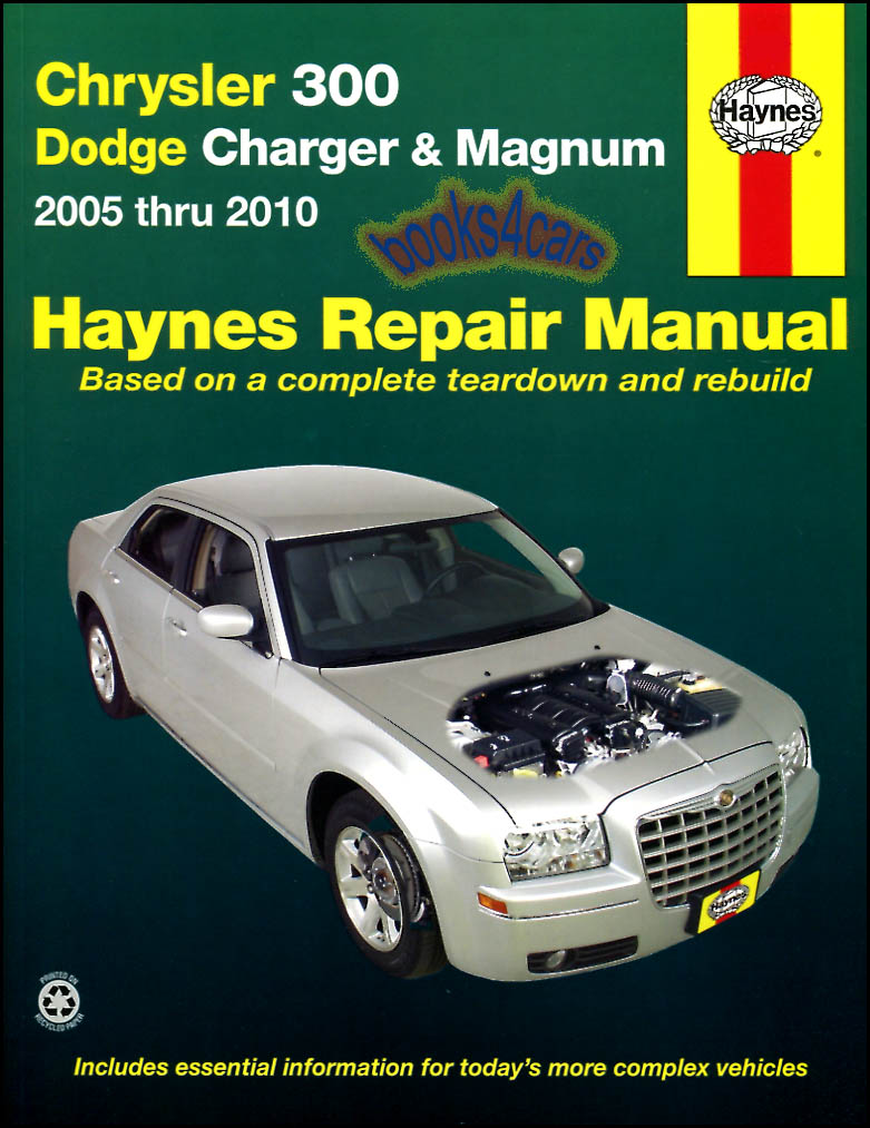 shop service repair manual haynes book chrysler 300 dodge magnum rh ebay com 05 Dodge Magnum Owner's Manual Haynes Manual for 2005 Dodge Magnum