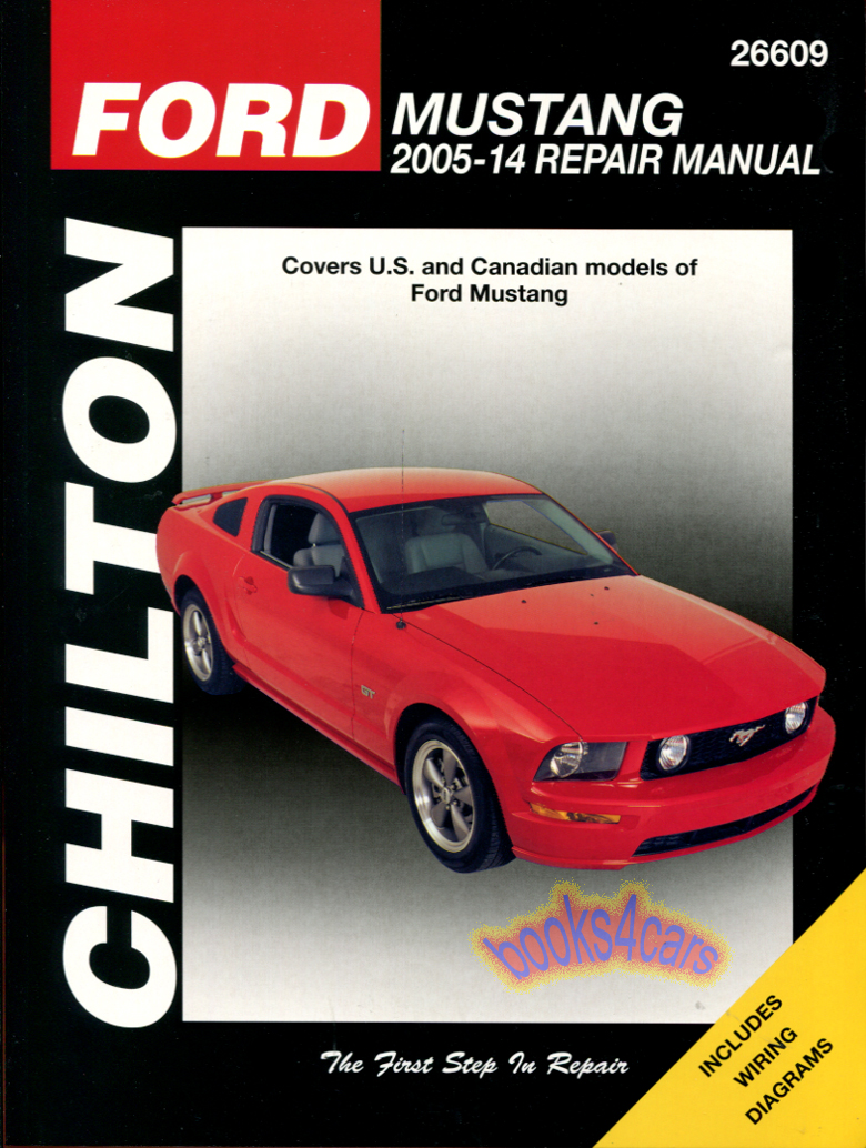 REAL BOOK over 300 page bumper to bumper Shop Service Repair Manual for  2005-2014 Ford Mustang with Service & Repair Procedures for Engine  Transmission ...