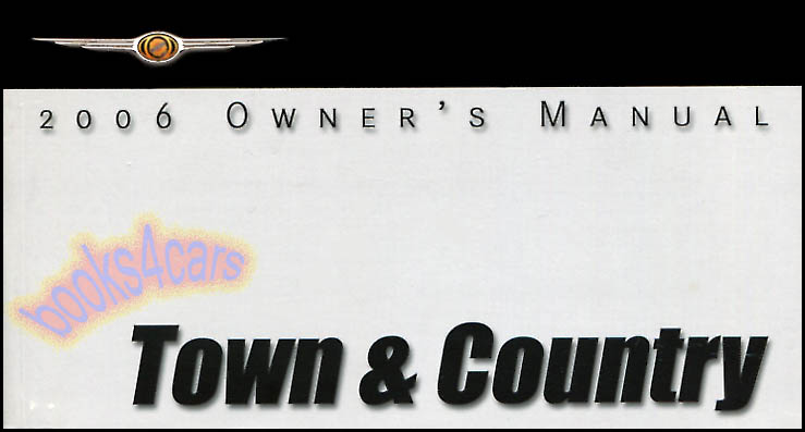 chrysler town manuals at books4cars com rh books4cars com Chrysler Manual 2006 chrysler town and country limited owners manual